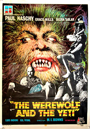 The Werewolf and the Yeti - Spanish One Sheet